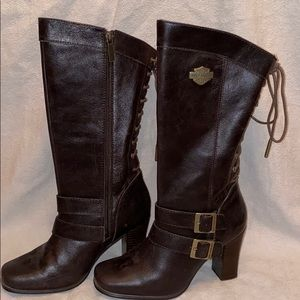 Harley Davidson brown lace boots